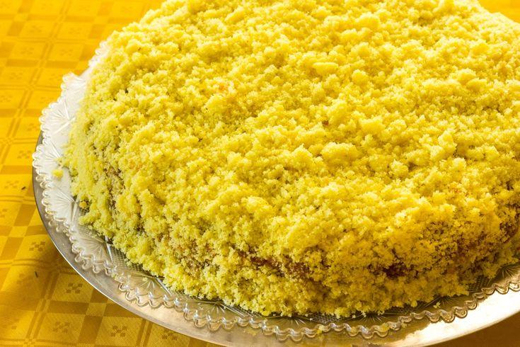 Ricetta torta Mimosa vegan - La ricetta per preparare in casa un deliziosa torta Mimosa in versione vegan, un dolce perfetto per la colazione o uno spuntino gustoso.