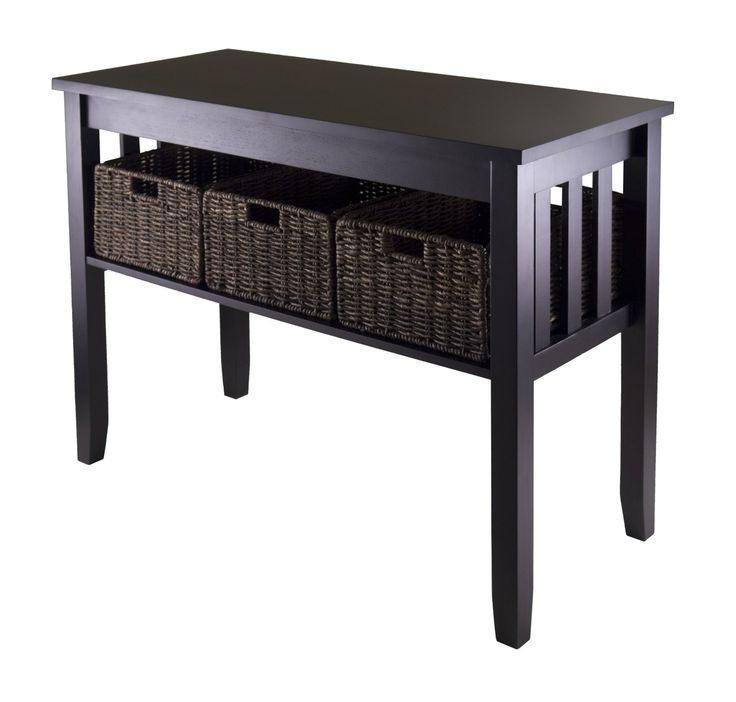 Attractive $214 Rectangular Accent Table With Three Foldable Baskets. See More At:  Http:/