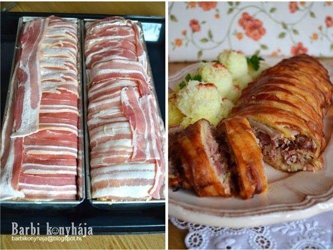 Hozzávalók 1 rúdhoz:  1 db csontozott füstölt csülök 9-10 szelet karaj 20 szelet bacon 1 nagy vöröshagyma 2 evőkanál...