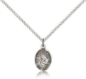 St. Margaret of Cortona Medal, Sterling Silver, Small Charm Size Bliss. $40.49. Made in USA. Includes 18 inch sterling silver light curb chain. Size 1/2 inch x 1/4 inch. Sterling Silver