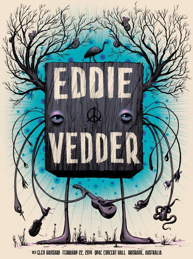 Eddie Vedder  Brisbane Poster by Jeff Soto