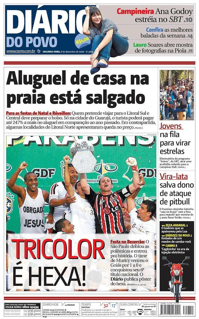 São Paulo Tri-Hexa: Jornal Diário do Povo (Campinas, SP)