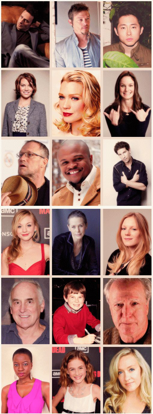 The Walking Dead cast, past & present http://pinterest.com/yankeelisa/the-walking-dead-2/