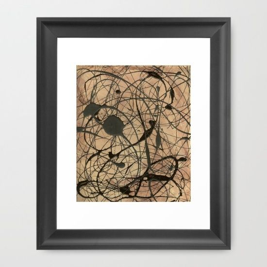 """Pollock Inspired Abstract Black On Beige Painting by Corbin Henry.  """"Small Framed Print Sets"""" """"Contemporary Prints and Posters"""" """"Framed Prints and Posters"""" """"Framed Abstract Art Print Sets"""" """"Framed Abstract Art Prints"""" """"Corbin Henry Art Print Sets"""" """"Pop Art Print Sets"""" """"Framed Pop Art Print Sets"""""""