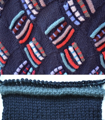 A Tuck Here, A Tuck There. How to place 3-D tucks on the surface of your knitting.