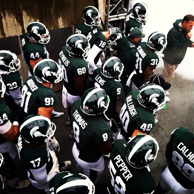 I may have skipped CMU's homecoming game to go to the MSU game!! #sorrynotsorry #MSU #MSUFootball #Football #LetsGoState #GoGreen #GoWhite #Padgram