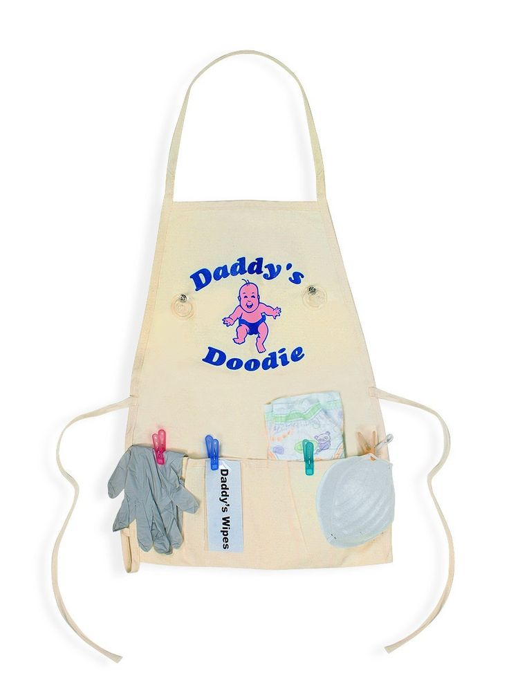 Baby Shower Gift Ideas Dad : Daddy s diaper quot doodie apron unique new dad gag gift