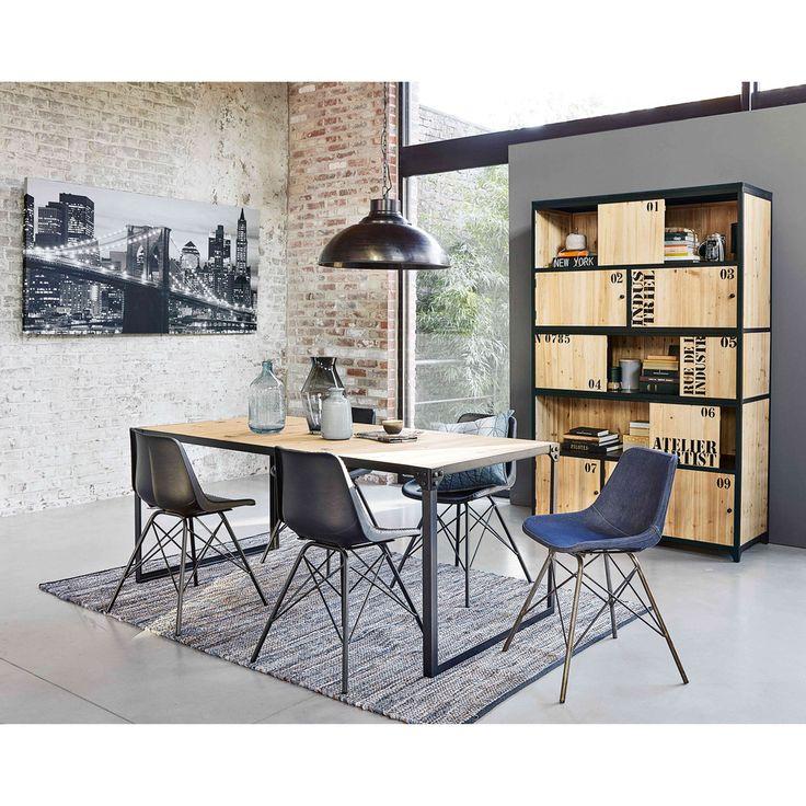 Metal bookcase in black W 130cm | Maisons du Monde