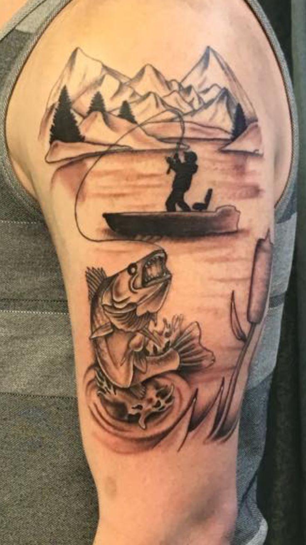 Fisherman Tattoo #fishing #tattoo #walleye