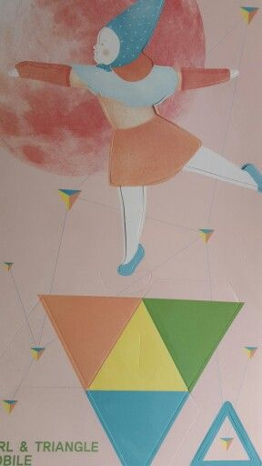 Mobile illustrated girl on triangle by ttable-top