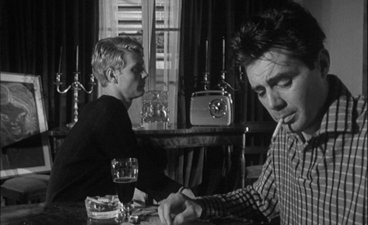 Dirk Bogarde and James Fox, The Servant (1963, dir. Joseph Losey)