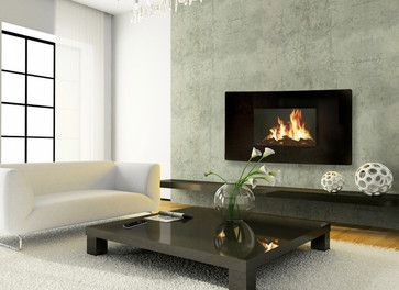 Celsi 43 Inch Panoramic Black Wall Hanging Modern Electric Fireplace    GL2029USP   Modern