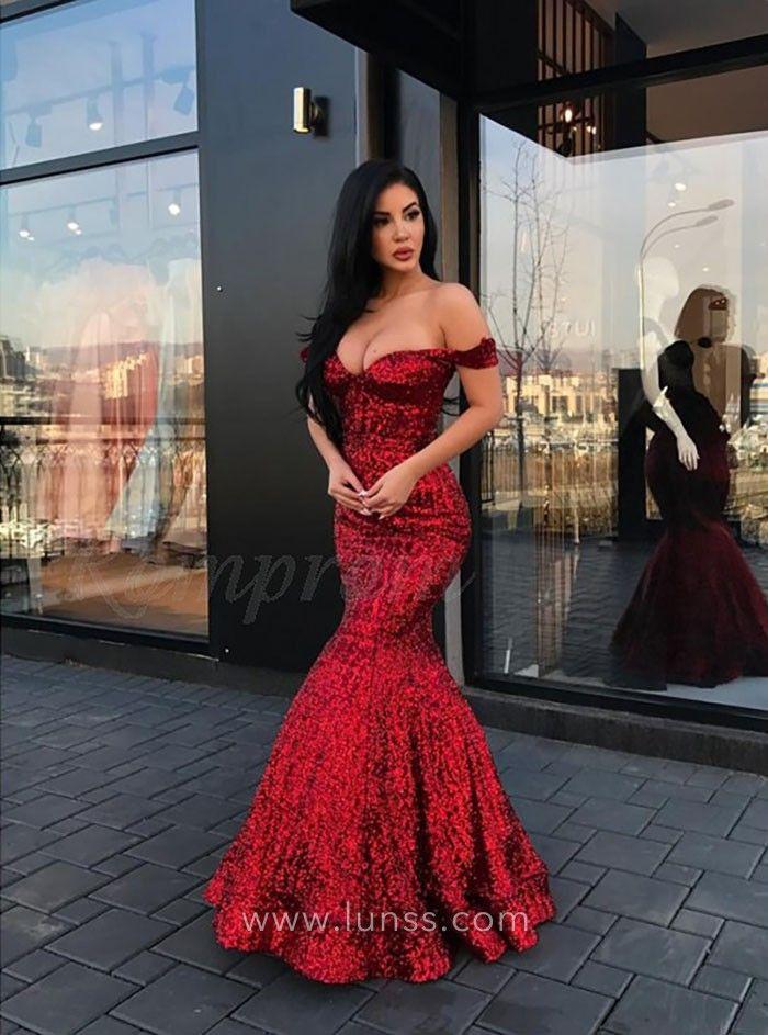 Red Mermaid Ball Dress