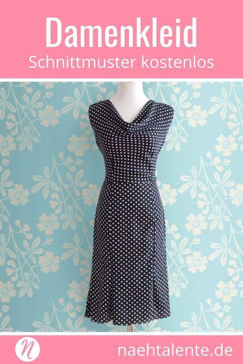 Date Night Dress – Kleid mit Wasserfallausschnitt   Freebooks nähen ...