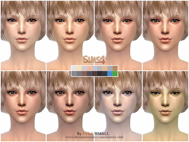 S Club Wmll Thesims4 H S Nd Skintones2 0 Sims 4 Skins