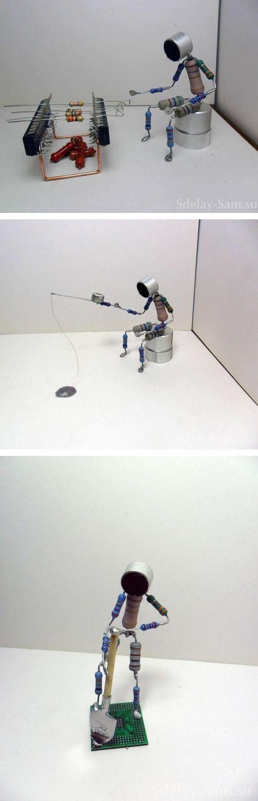 Elektronik komponentler ile hazırlanan ilginç figürler 2 – Elektronik Devreler Projeler