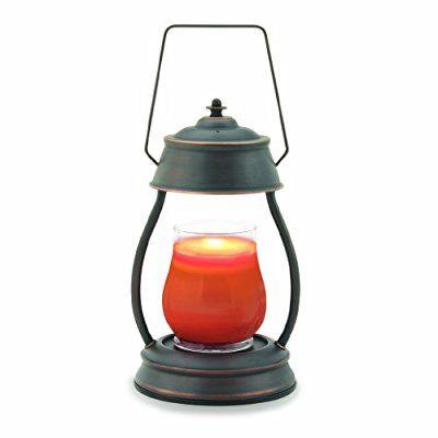 Candle Warmers Etc. Hurricane Candle Warmer Lantern, Metallic Series, Oil Rubbed Bronze