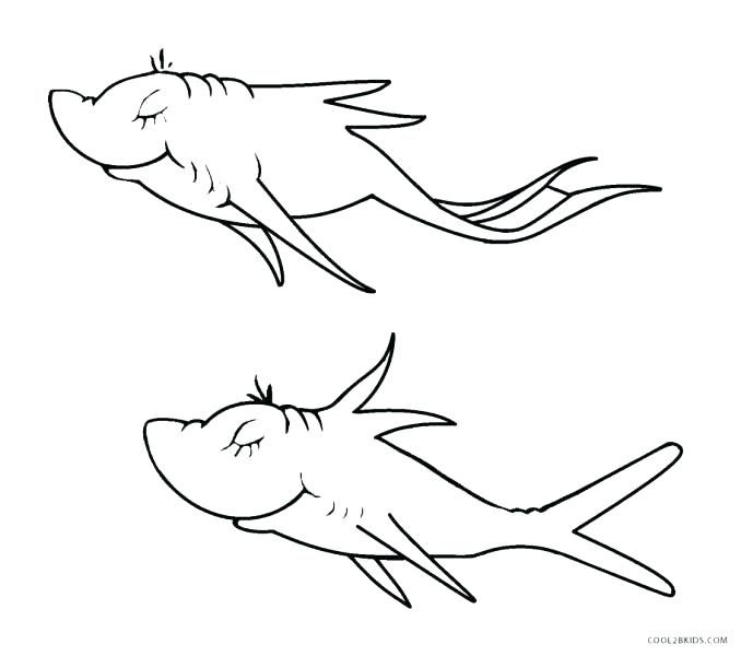 one fish two fish coloring pages # 1