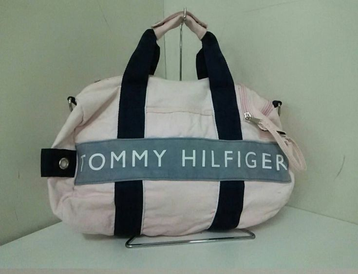 Excited to share the latest addition to my #etsy shop: 90s Tommy Hilfiger Duffel Bag Pink Tommy Hilfiger Luggage Bag Tommy Hilfiger Travel Bag