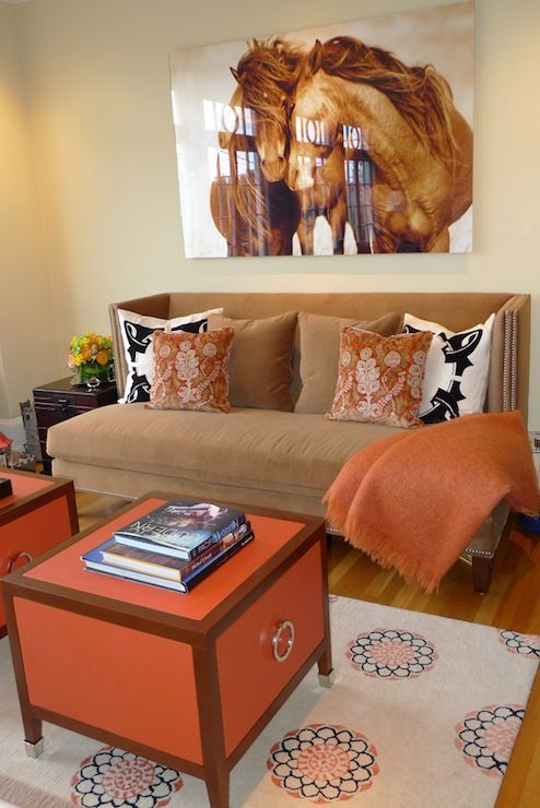 1000 ideas about orange living rooms on pinterest for Brown orange living room ideas