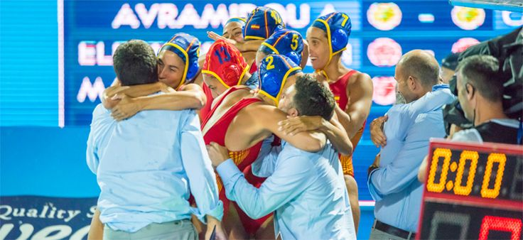 La selección española de waterpolo, a semifinales