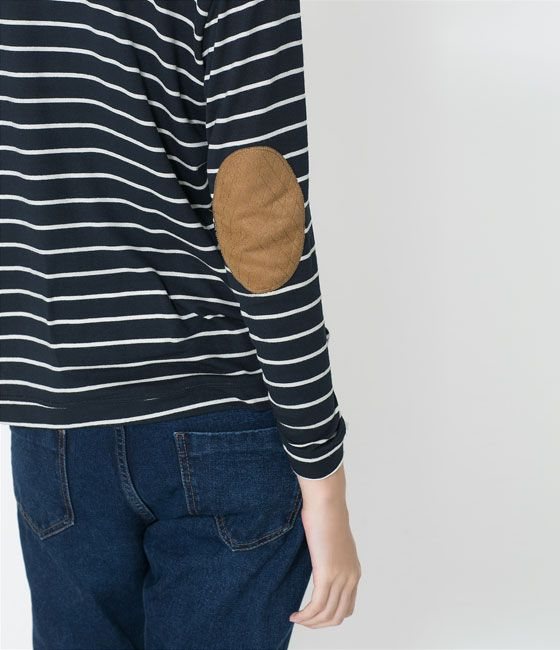 SWEATER WITH CONTRASTING ELBOW PATCHES from Zara