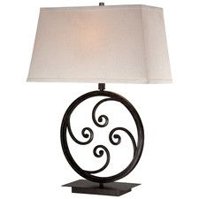 "Modern 1 Light 27.5"" H Table Lamp with Rectangular Shade"
