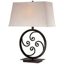 "Modern 1 Light 27.5"" H Table Lamp with Rectangular Shade"