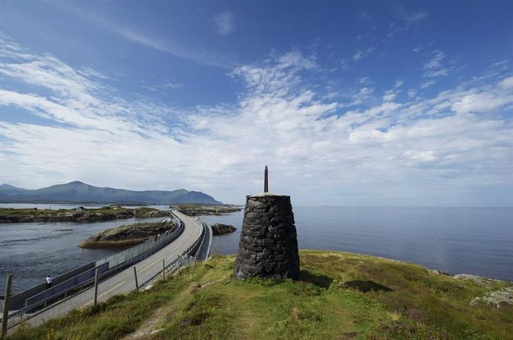 A unique stretch of road which takes you right out to the ocean's edge. In 2005, the road was voted Norway's «Engineering Feat of the Century», and is also known to be the world's most beautiful drive. It connects Averøy with the mainland via a series of small islands and islets spanned by a total of eight bridges over 8274 meters. The road was opened in 1989 and is toll free. The Atlantic Road has National Tourist Route status and the entire stretch between Bud and Kristiansund is one co...