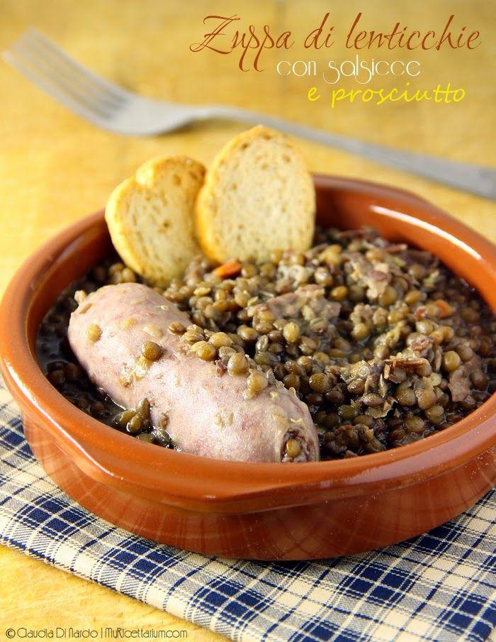 My Ricettarium: Zuppa di lenticchie con salsicce e prosciutto