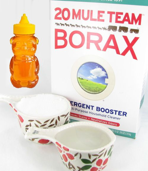 Mixing honey, sugar, water and borax gives you a Spray ant killer that you can use outdoors to keep ants from entering your home. Get the recipe here http://thegardeningcook.com/testing-borax-ant-killer-remedies/