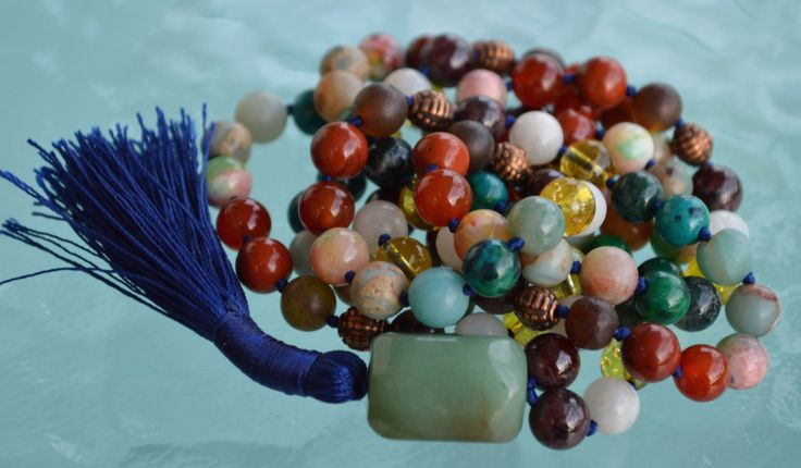 A personal favorite from my Etsy shop https://www.etsy.com/listing/399176461/the-ultimate-virgo-mala-zodiac-mala # Virgo gemstone mala beads necklace # Virgo mala # powerful combination of gemstones for virgo # Virgo sun sign mala necklace # gemstones mala beads for people born in September
