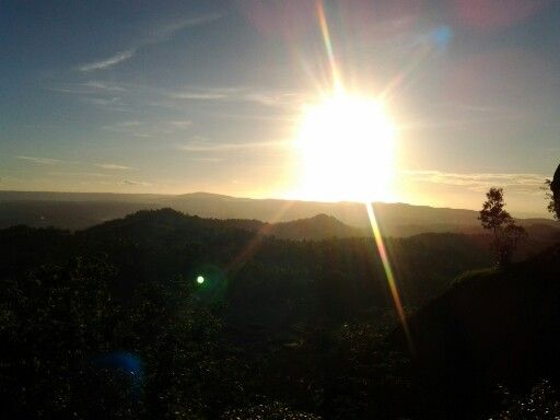 Sunset from nglanggran, gunung kidul, DIY