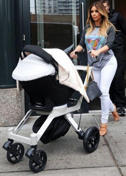 Kim Kardashian North West Stroller Kim Kardashian Kim