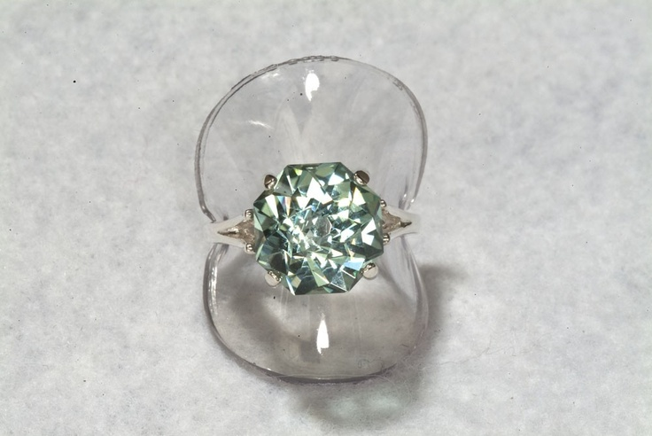 I would take this over a diamond ANYDAY. Prasiolite Green Amethyst  Rose Petal Cut 9 carat Alternative Engagement Ring.