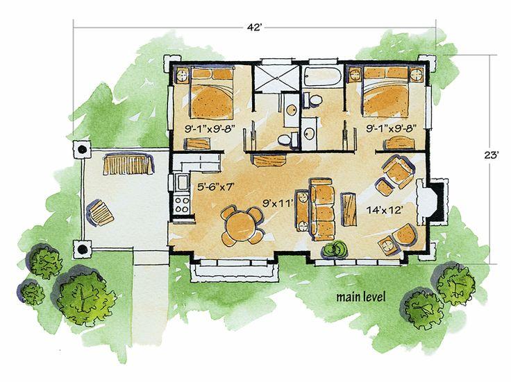 Cabin Cottage Craftsman House Plan 43204 Craftsman