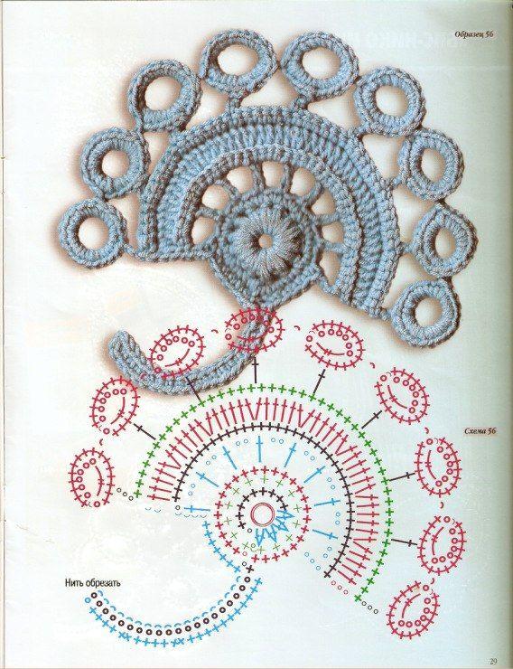 DODA CROCHET: Motivi pizzo d'Irlanda - Irish crochet patterns