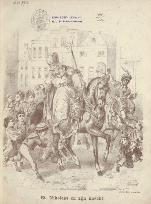 St. Nikolaas en zijn knecht, ca. 1885