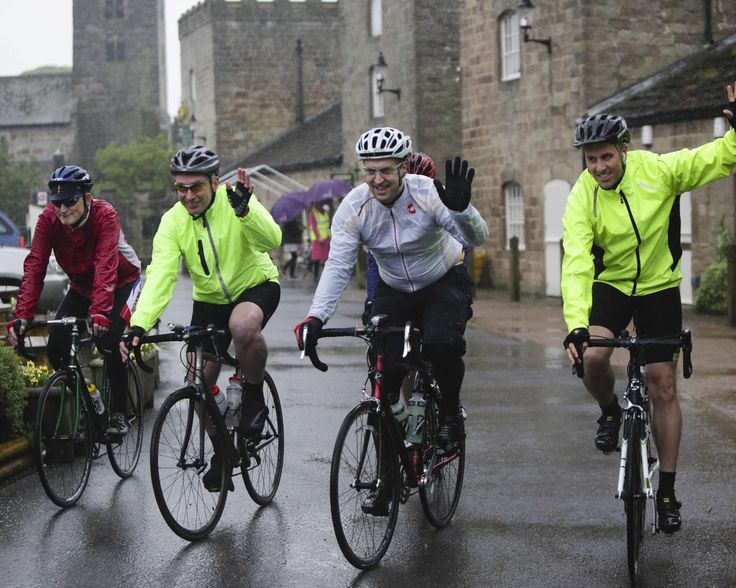 Yorkshire Pedalthon 2014 - setting off from Ripley Castle