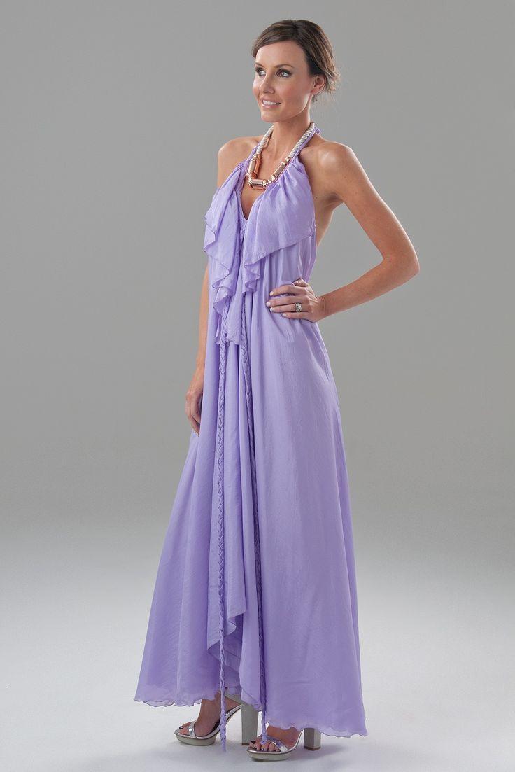 lisa brown lilac poppy v frill dress - Google Search