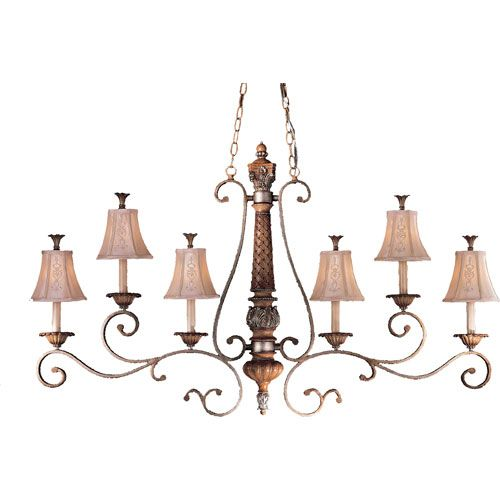 Love The Wall Finishes Chandelier And The Overall Tuscan: Yosemite Home Decor One-Light Gray Pendant With Clear