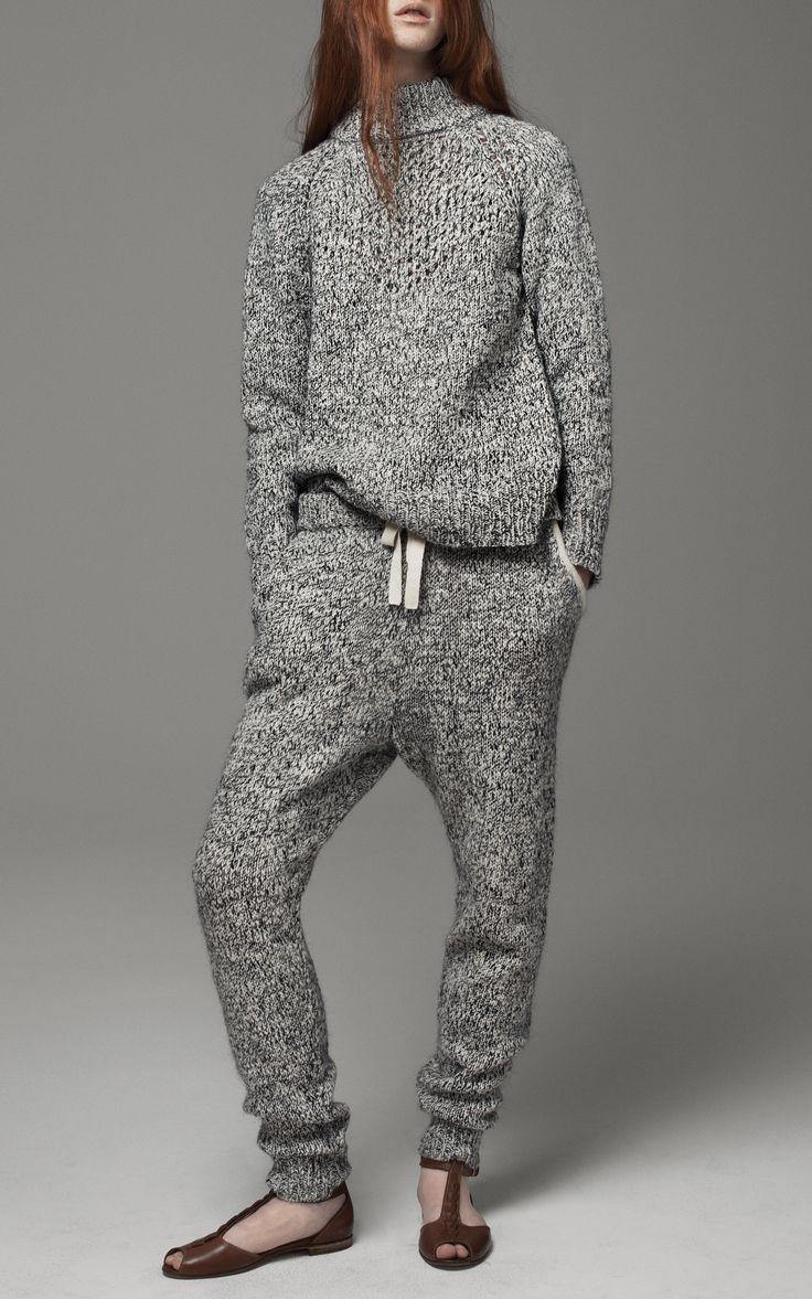 Marled Knit Sweatpants, THAKOON ADDITION