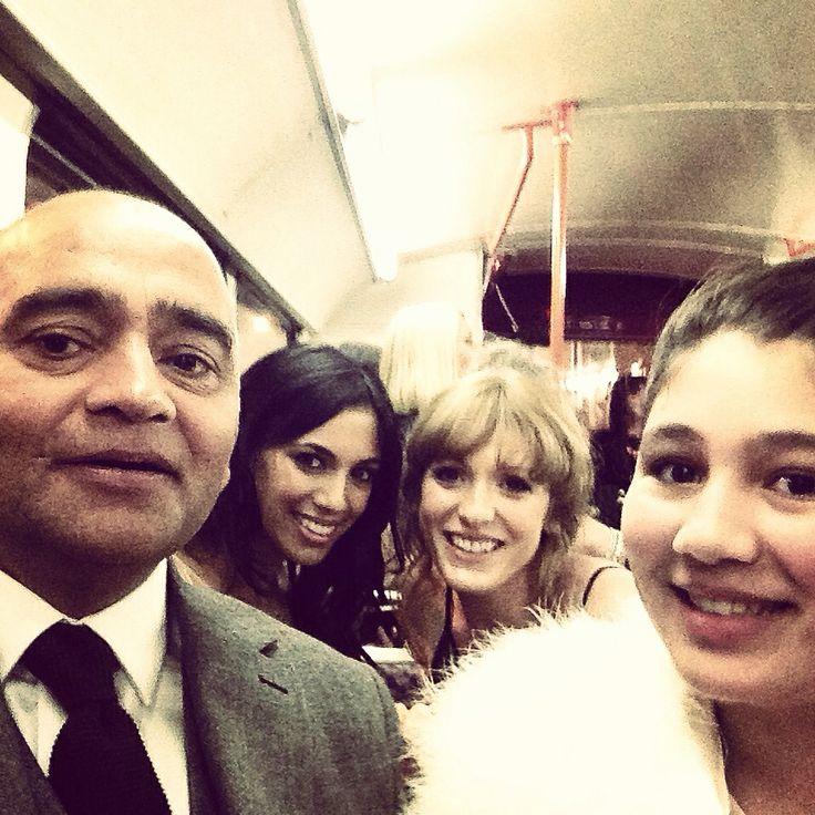 The Soap Awards Selfie! with Bhasker Patel aka Rishi Sharma & Fiona Wade aka Priya Sharma & guests. ❤️EMMERDALE