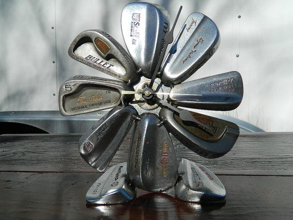 Recycled Golf Iron Club Desk Clock by JunkFX free by Junkfx, $100.00