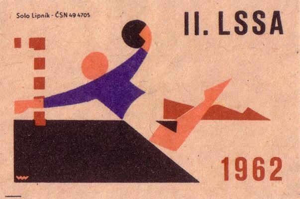 https://flic.kr/p/8SsoUz | 2nd Summer Spartakiad of Allied Armies 1962 | II. letni spartakiada spratelenych armad [summer spartakiad of the allied armies]. 1962. czechoslovakia. matchbox label. print. ephemera. [2566]