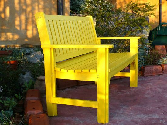 CRP Products - Garden Bench - Durable Recycled Plastic in Recycled Plastic Furniture & Sets