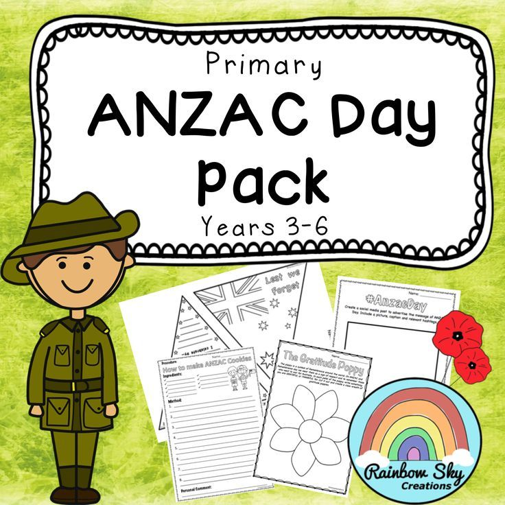ANZAC Day Teaching Pack for Years 3, 4, 5, Includes Literacy and Numeracy based tasks that could be used during group work or as whole class activities to use leading up and on ANZAC day. ~ Rainbow Sky Creations ~