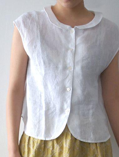lovely linen blouse for summer - Cora
