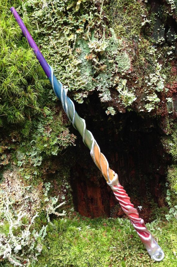 Rainbow Magic Wand by EarthenJewels on Etsy, $13.00