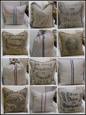 almohadon burlap pillows